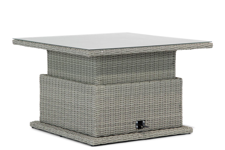 Garden Collections Brampton lounge/dining tafel verstelbaar 120 x 120 cm