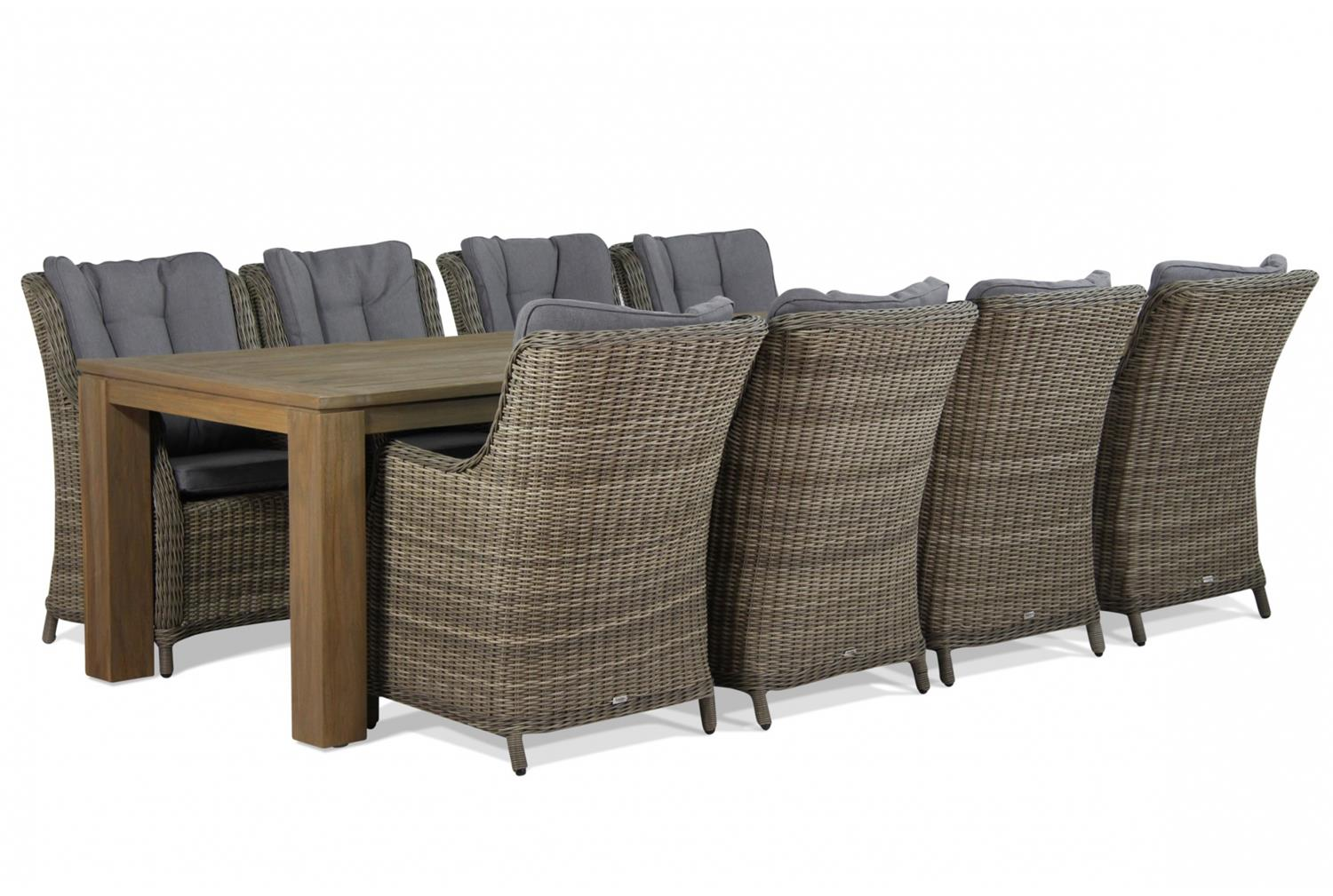 Garden Collections Buckingham/Brighton 300 cm dining tuinset 9-delig