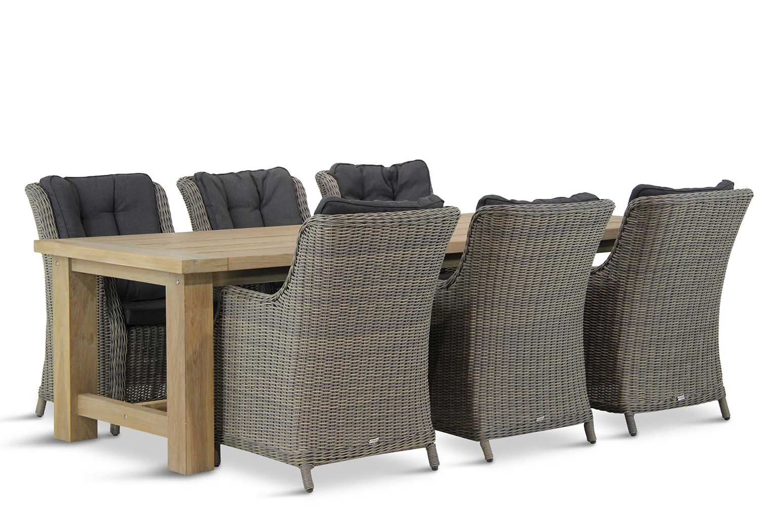 Wicker Garden Collections Buckingham/Fourmile 260 cm dining tuinset 7-delig