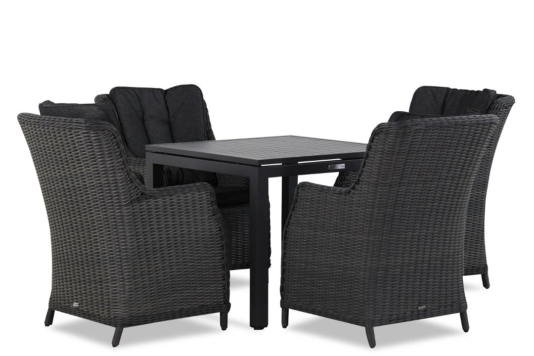 Wicker Garden Collections Buckingham/Concept 90 cm dining tuinset 5-delig