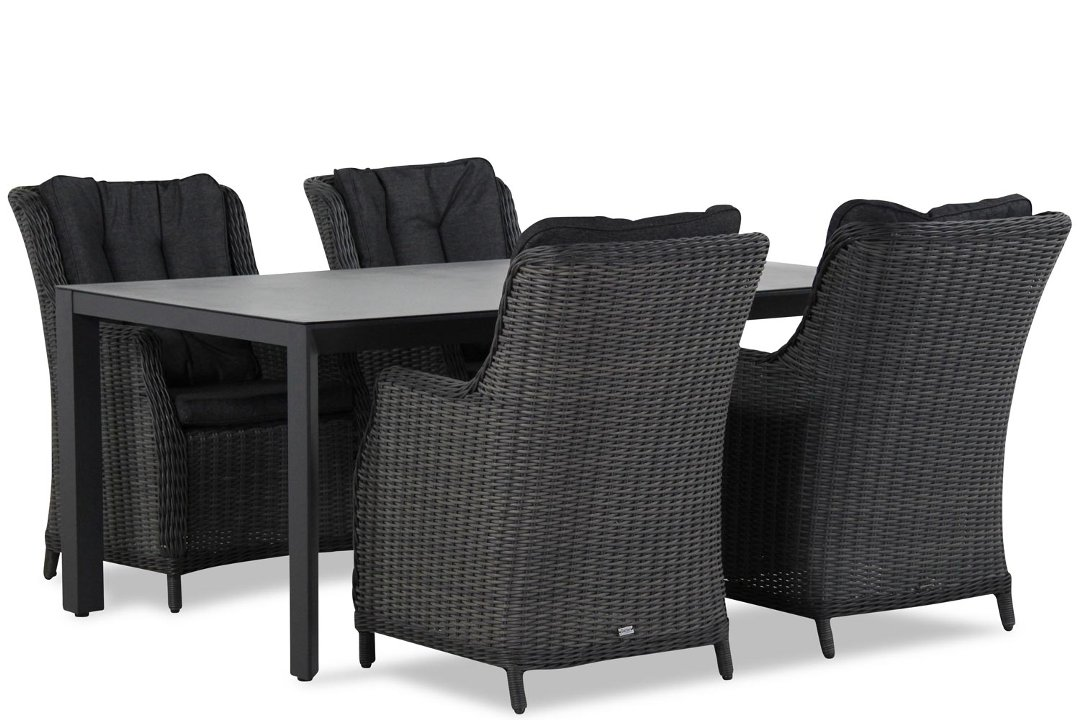 Wicker Garden Collections Buckingham/Elena 180 cm dining tuinset 5-delig
