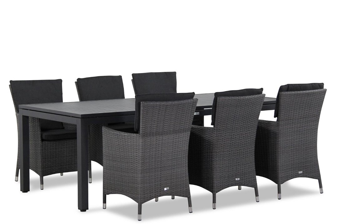 Wicker Garden Collections Orlando/Concept 220 cm dining tuinset 7-delig