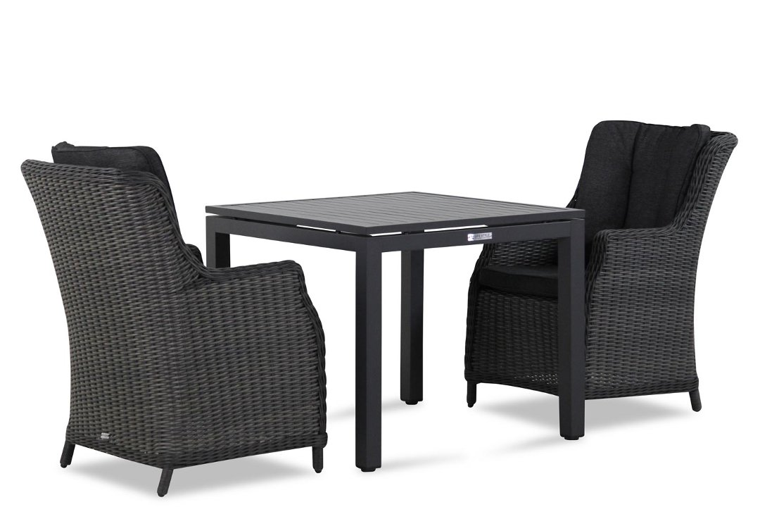 Wicker Garden Collections Buckingham/Concept 90 cm dining tuinset 3-delig