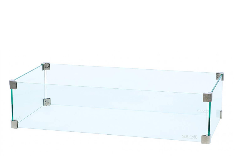 Cosi glasset rechthoek voor Cosi vuurtafel