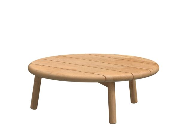 4 Season Outdoor Ceylon coffee table Natural Teak round 75 cm. Teak legs (H28)