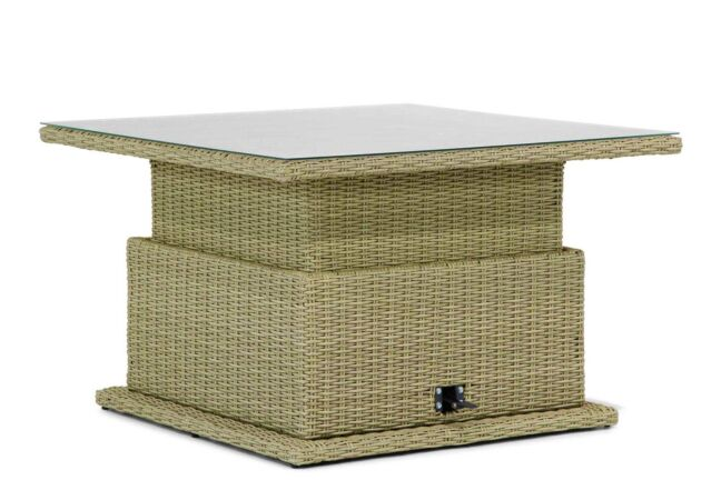 Garden Collections Brampton lounge/dining tafel naturel verstelbaar 120 x 120 cm