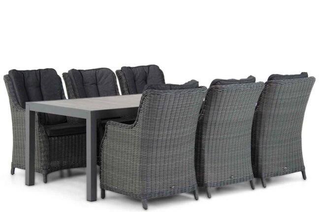 Garden Collections Buckingham/Residence 220 cm dining tuinset 7-delig