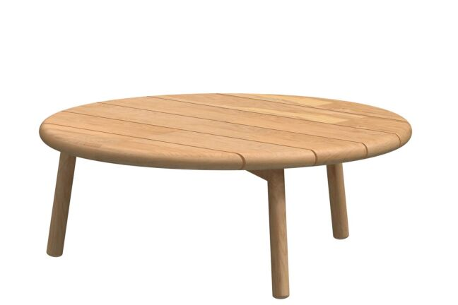 4 Season Outdoor Ceylon coffee table Natural Teak round 90 cm Teak legs (H35)
