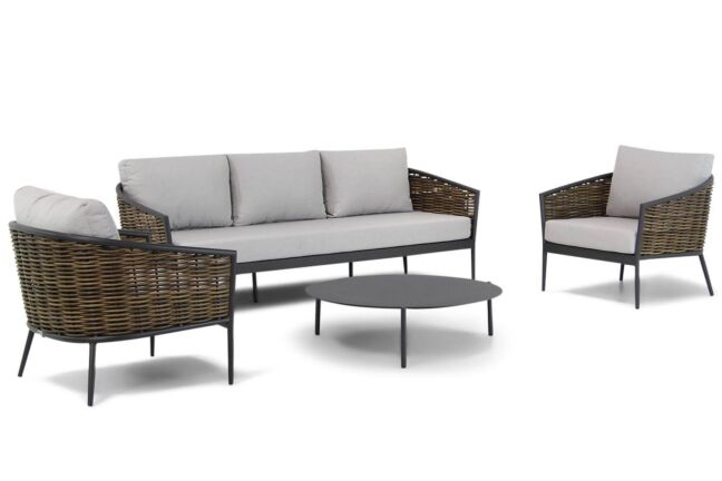 Coco Palm/Pacific 100cm stoel-bank loungeset 4-delig