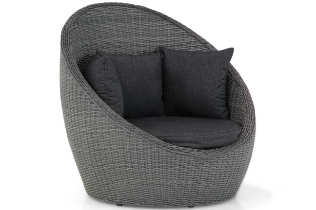 Garden Collections Cocoon lounge tuinstoel Off black