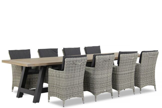 Garden Collections Springfield/Trente 330 cm dining tuinset 9-delig