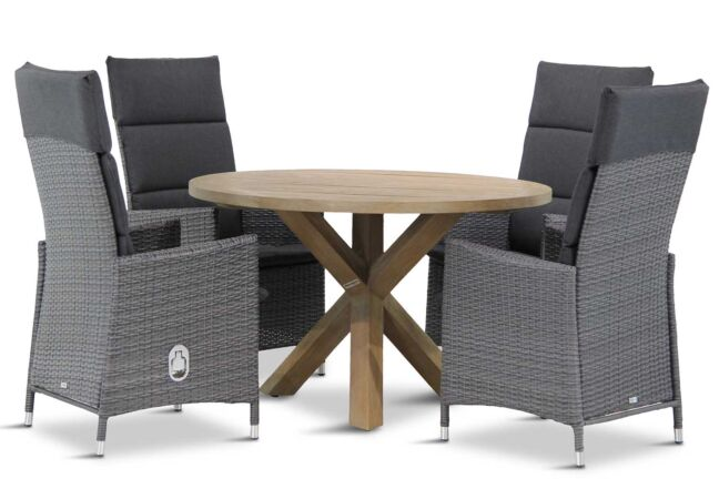 Garden Collections Denver/Sand City rond 120 cm dining tuinset 5-delig