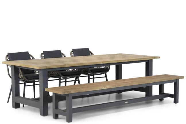 Lifestyle Dolphin/San Francisco 260 cm dining tuinset 5-delig