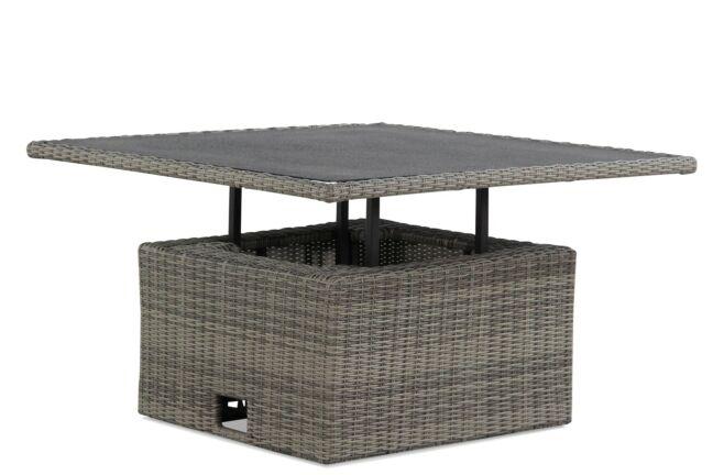 Garden Collections Ferie lounge/dining tafel 120 x 120 cm verstelbaar