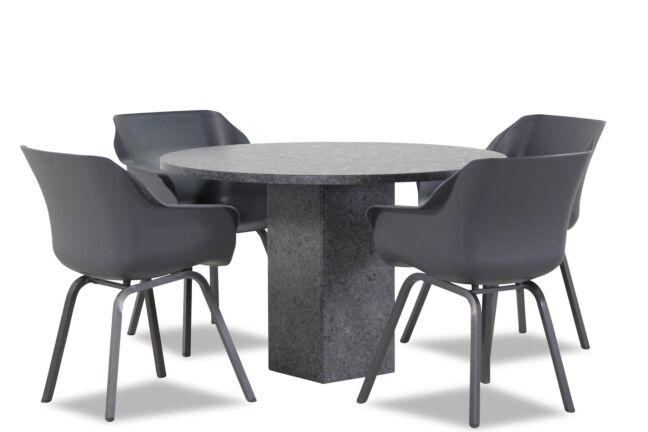 Hartman Sophie element/Graniet rond 120 cm dining tuinset 5-delig