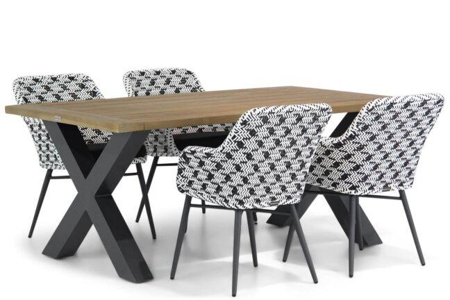 Lifestyle Crossway/Cardiff 180 cm dining tuinset 5-delig