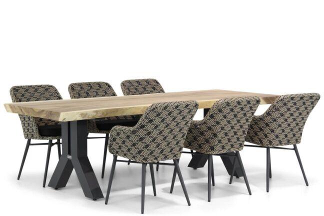 Lifestyle Crossway/Woodside 240 cm dining tuinset 7-delig