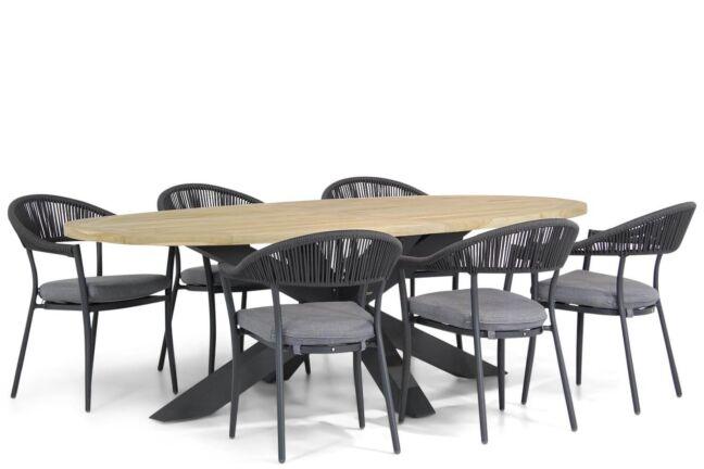 Santika Vivian/Brookline 240 cm ovaal dining tuinset 7-delig