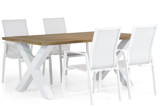 Lifestyle Ultimate/Cardiff 180 cm dining tuinset 5-delig