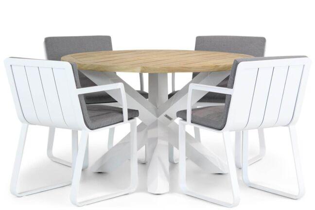 Lifestyle Estancia/Wellington 120 cm rond dining tuinset 5-delig