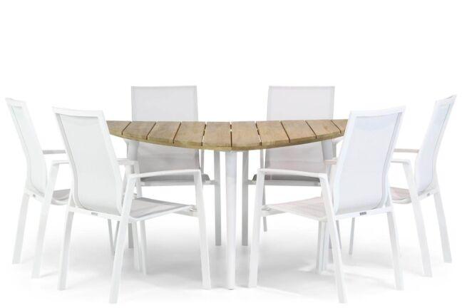 Lifestyle Ultimate/Julia 155 cm triangel dining tuinset 7-delig