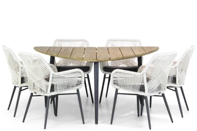 Lifestyle Advance/Julia 155 cm triangel dining tuinset 7-delig