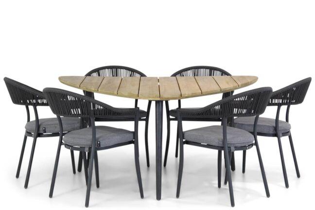 Santika Vivian/Julia 155 cm triangel dining tuinset 7-delig