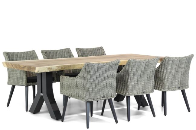 Garden Collections Milton/Woodside 240 cm dining tuinset 7-delig