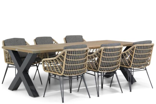 4 Seasons Outdoor Cottage/Cardiff 240 cm dining tuinset 7-delig