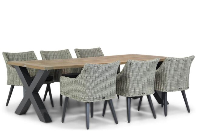 Garden Collections Milton/Cardiff 240 cm dining tuinset 7-delig