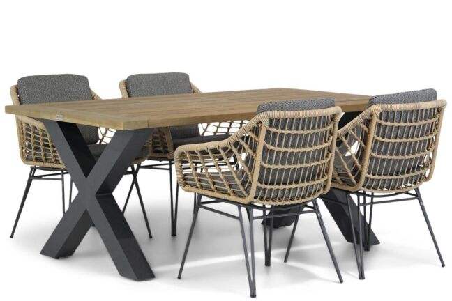 4 Seasons Outdoor Cottage/Cardiff 180 cm dining tuinset 5-delig