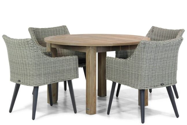 Garden Collections Milton/Brighton 120 cm rond dining tuinset 5-delig