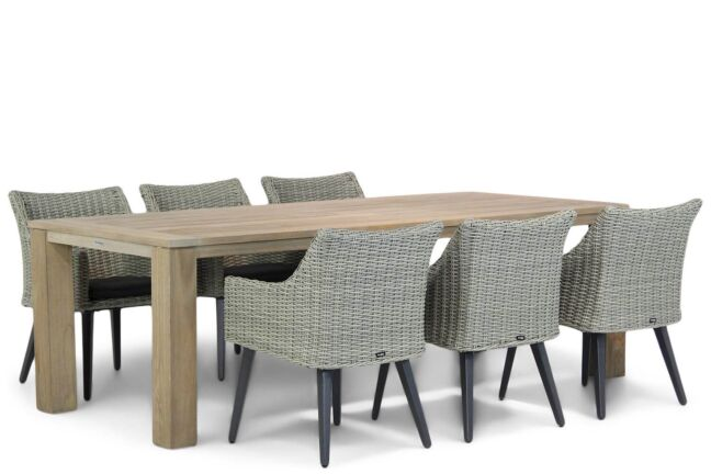 Garden Collections Milton/Brighton 240 cm dining tuinset 7-delig