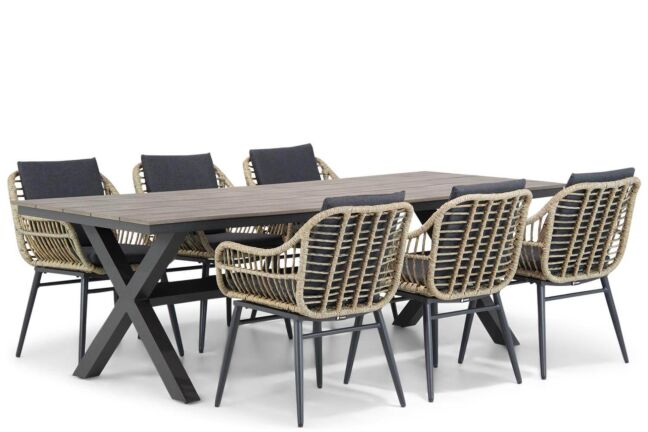 Coco Leonardo/Forest 240 cm dining tuinset 7-delig