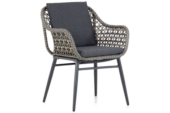 Lifestyle Dolphin dining tuinstoel mixed black/taupe