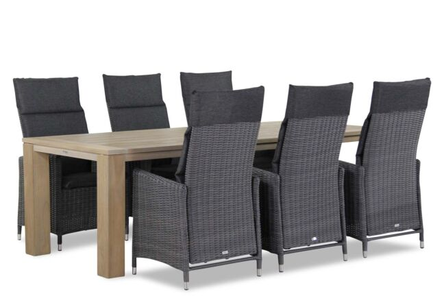 Garden Collections Madera/Brighton 240 cm dining tuinset 7-delig
