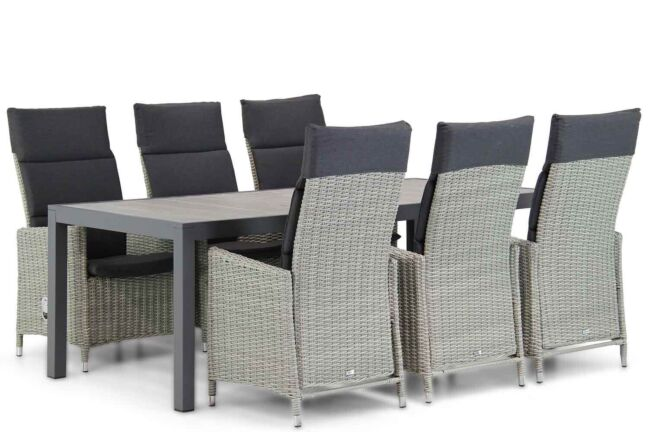 Garden Collections Madera/Residence 220 cm dining tuinset 7-delig