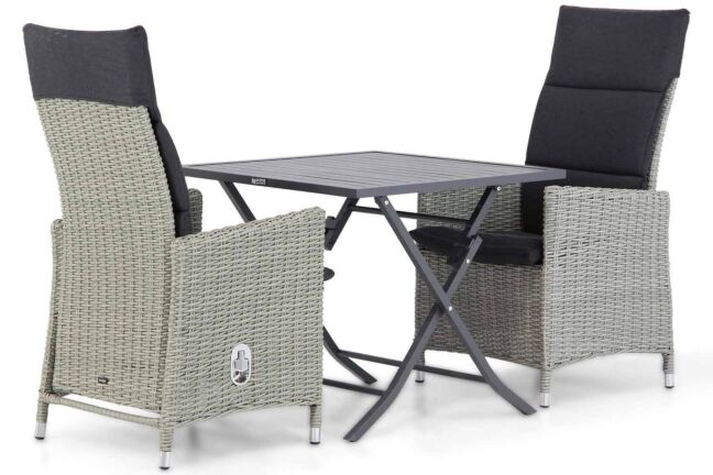 Garden Collections Madera/Nicola 80 cm dining tuinset 3-delig