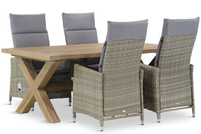 Garden Collections Madera/Oregon 200 cm dining tuinset 5-delig
