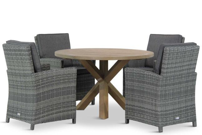 Domani Malta/Sand City rond 120 cm dining tuinset 5-delig