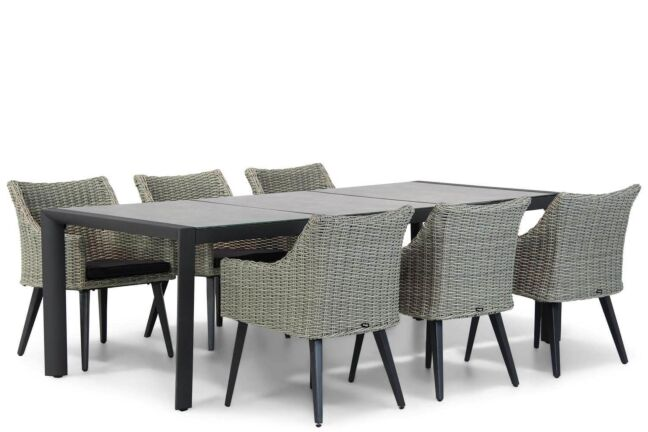 Garden Collections Milton/Lido 240 cm dining tuinset 7-delig