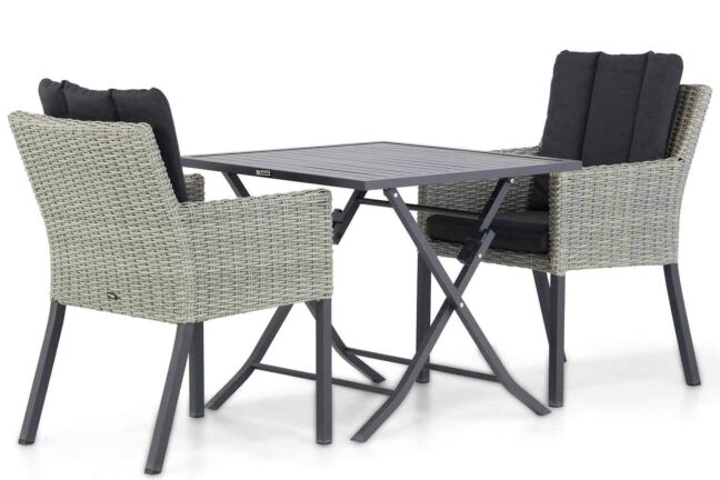 Garden Collections Oxbow/Nicola 80 cm dining tuinset 3-delig
