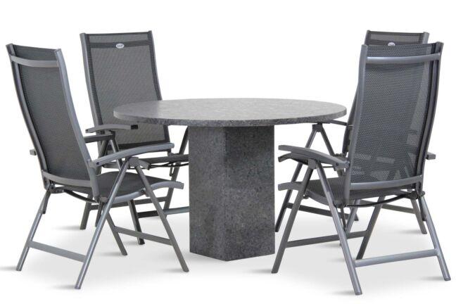 Hartman Salvatore/Graniet 120 cm dining tuinset 5-delig