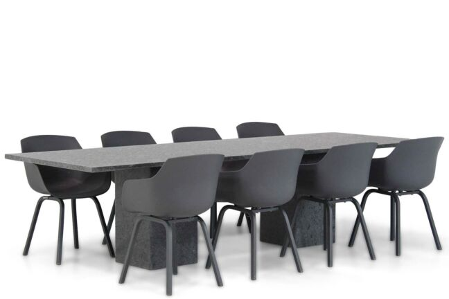 Lifestyle Salina/Graniet 300 cm dining tuinset 9-delig