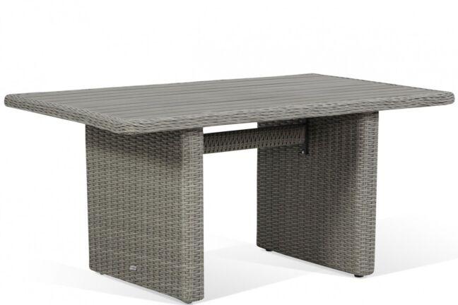 Garden Collections Toronto lounge/dining tuintafel new grey 140 x 80 cm
