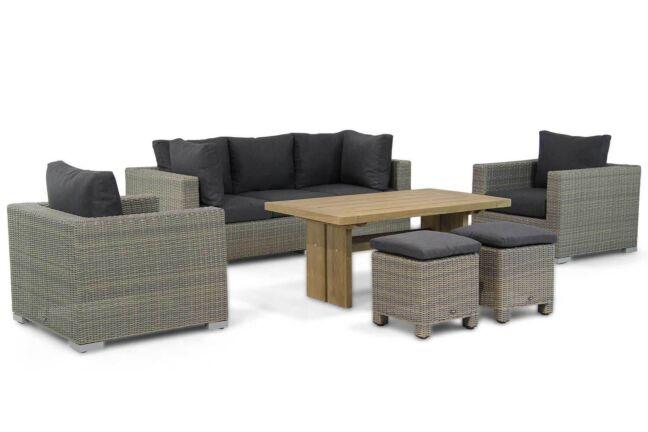 Garden Collections Toronto/Brighton 140 cm stoel-bank loungeset 6-delig