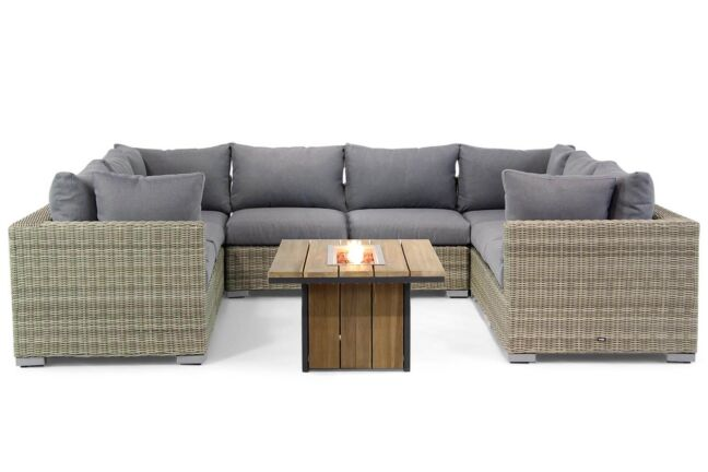 Garden Collections Toronto/Seaside 120 cm loungeset U-vorm 9-delig