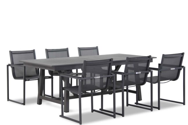 Lifestyle Delgada/General 217/277 cm dining tuinset 7-delig stapelbaar