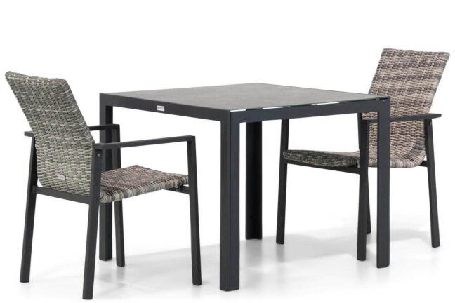 Lifestyle Upton/Varano 90cm dining tuinset 3-delig
