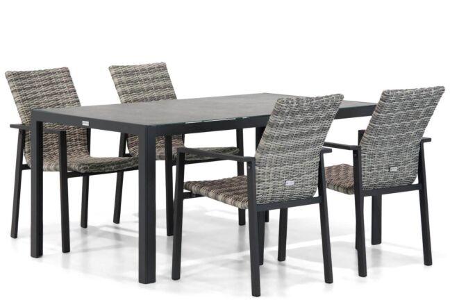 Lifestyle Upton/Varano 160 cm dining tuinset 5-delig